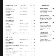 Beverage Menu - Wine and Cocktails