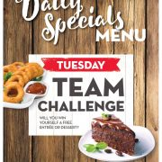 Tuesday Daily Special - Team Challenge